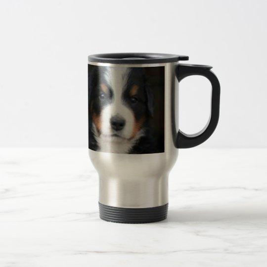 Bernese mountain dog puppies travel mug