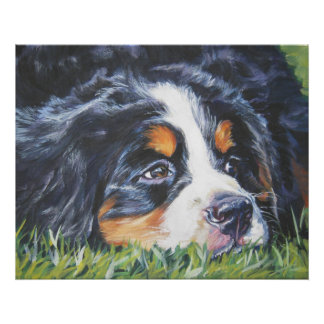 bernese mountain dog puppy art print