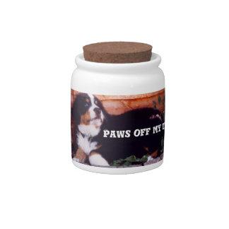 bernese mountain dog puppy candy/bicuit jar
