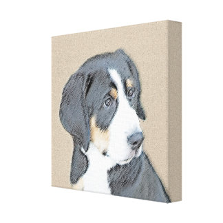 Bernese Mountain Dog Puppy Canvas Print