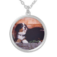 bernese mountain dog puppy necklace