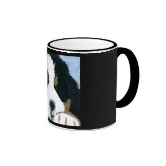 Bernese Mountain dog Ringer Mug