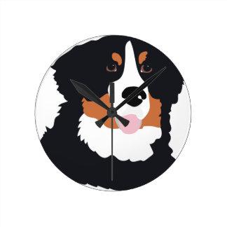 Bernese Mountain Dog Round Clock
