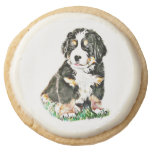 Bernese Mountain Dog Round Shortbread Cookie
