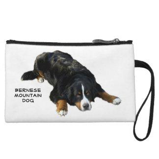 Bernese Mountain Dog Rug Pose Mini Clutch Wristlet