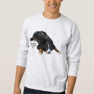 Bernese mountain Dog Rug Pose Sweat Shirt
