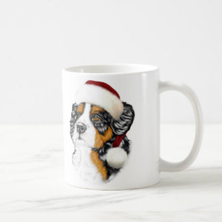 Bernese Mountain Dog Santa Pup Coffee Mugs