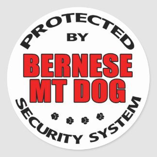Bernese Mountain Dog Security Classic Round Sticker