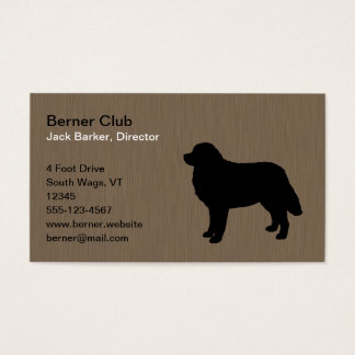Bernese Mountain Dog Silhouette Business Card