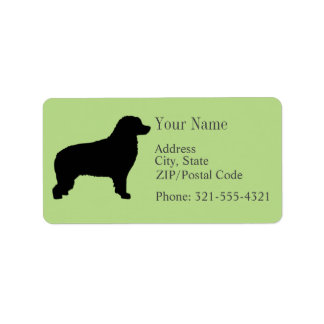 Bernese Mountain Dog Silhouette Label