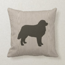 Bernese Mountain Dog Silhouette Throw Pillow