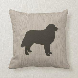 Bernese Mountain Dog Silhouette Throw Pillows
