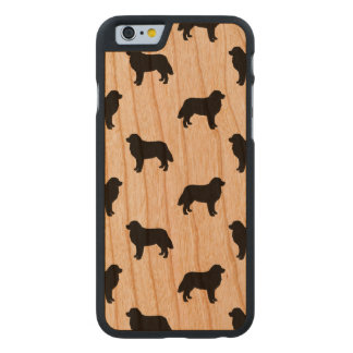 Bernese Mountain Dog Silhouettes Pattern Carved® Cherry iPhone 6 Slim Case