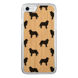 Bernese Mountain Dog Silhouettes Pattern Carved iPhone 7 Case