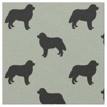 Bernese Mountain Dog Silhouettes Pattern Fabric