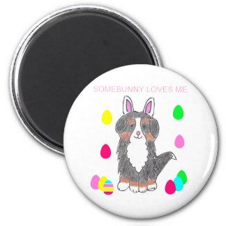 Bernese Mountain Dog Somebunny Loves Me Magnet