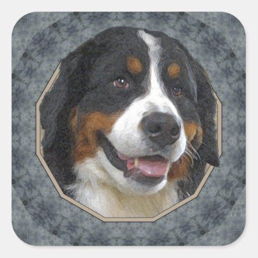 Bernese Mountain Dog Square Sticker