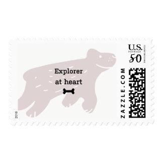 Bernese mountain dog stamp