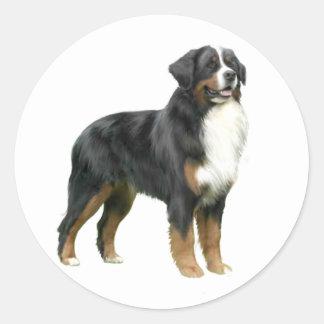 Bernese Mountain Dog - standing Classic Round Sticker