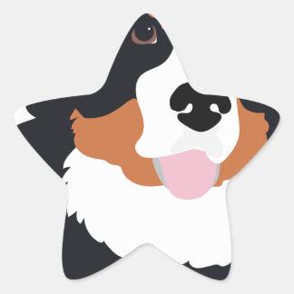 Bernese Mountain Dog Star Sticker