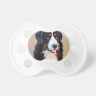Bernese mountain dog, the obedient dog BooginHead pacifier