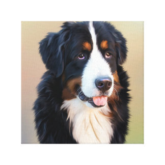 Bernese mountain dog, the obedient dog canvas print