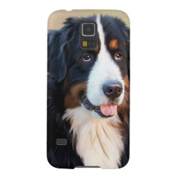 Case-Mate Barely There Samsung Galaxy S5 Case with Bernese Mountain Dog Phone Cases design