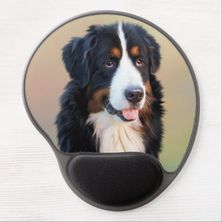 Bernese mountain dog, the obedient dog gel mouse pad