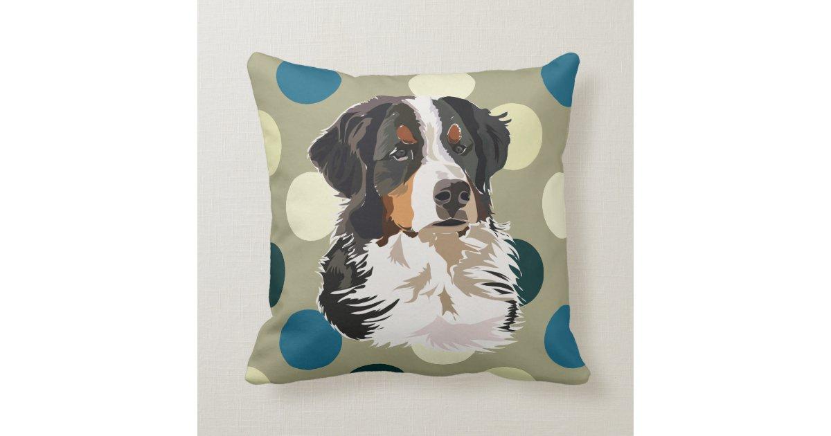 Bernese Mountain Dog Throw Pillow Zazzle