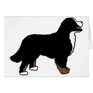Bernese Mountain Dog Triclolor Card