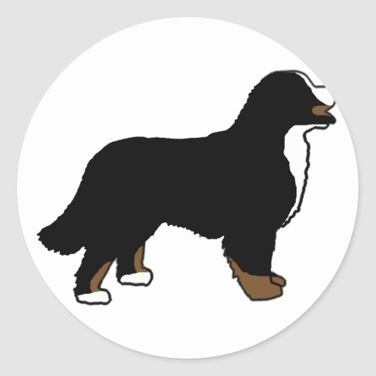 Bernese Mountain Dog Triclolor Classic Round Sticker