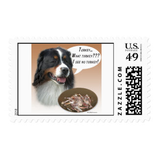 Bernese Mountain Dog Turkey Postage Stamp