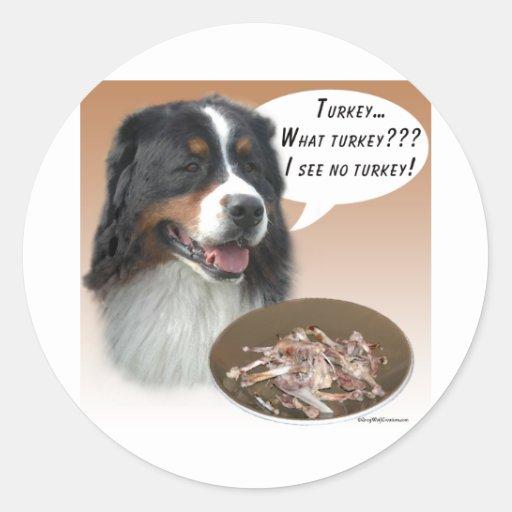 Bernese Mountain Dog Turkey Sticker
