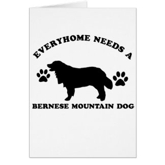 bernese mountain dog vector designs greeting card