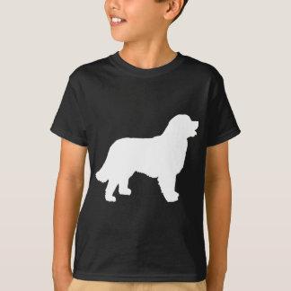 Bernese Mountain Dog (white silhouette) T-Shirt