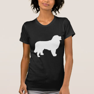 Bernese Mountain Dog (white silhouette) Tshirt