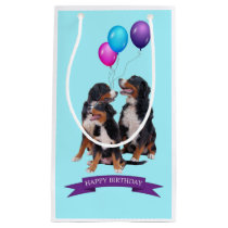 Bernese Mountain Dogs Happy Birthday Gift Bag