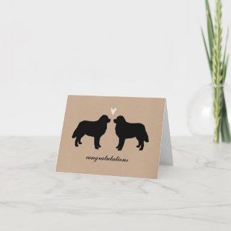 Bernese Mountain Dogs Wedding Congratulations Card