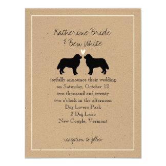 Bernese Mountain Dogs Wedding Invitation