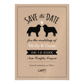 Bernese Mountain Dogs Wedding Save the Date Magnetic Card
