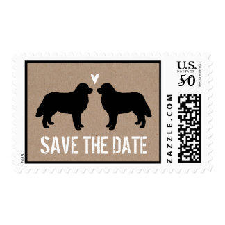 Bernese Mountain Dogs Wedding Save the Date Postage