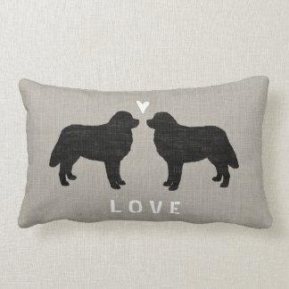 Bernese Mountain Dogs with Heart and Text Lumbar Pillow