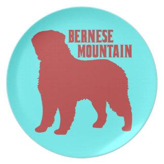 Bernese Mountain Party Plates