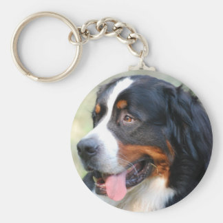 Bernese Mountain Puppy Keychain