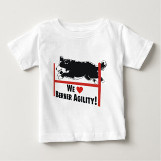 Bernese Mt. Dog - Berner Agility Love Baby T-Shirt