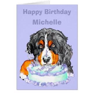 Bernese Mt Dog Birthday CUSTOMIZE Greeting Cards