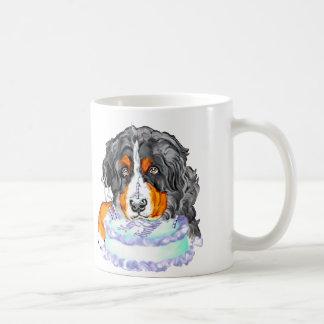 Bernese Mt Dog Cake Face Birthday Coffee Mug