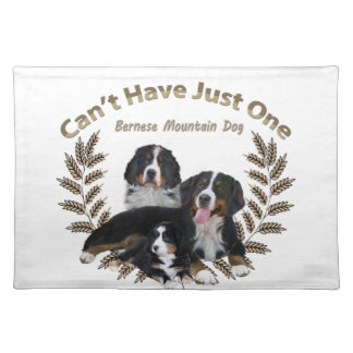 Bernese Mt. Dog Can't Have Just One Cloth Placemat