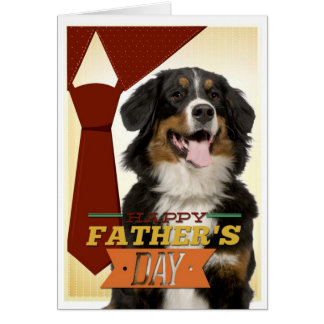 Bernese Mt. Dog Father's Day Card