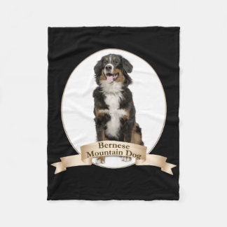 Bernese Mt. Dog Fleece Blanket
